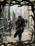 A futuristic dystopia